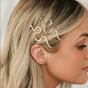Lulu's┃Medusa Gold Snake Hair Clips (2 pack)